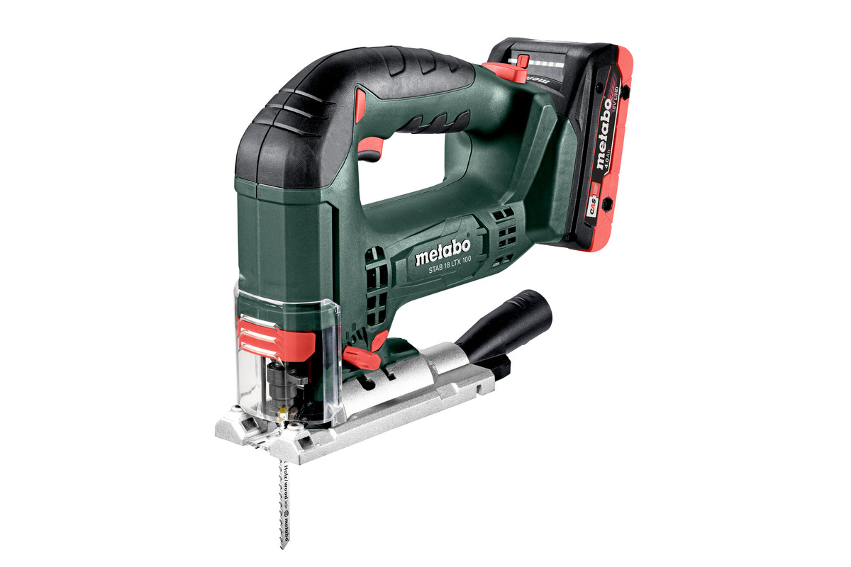Metabo STAB 18 LTX 100, Bow Handle Jigsaw 2x 18V LiHD 4.0Ah