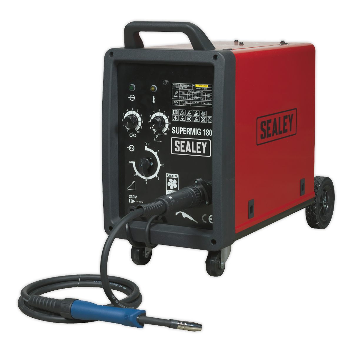 Sealey SUPERMIG180 Professional MIG Welder 180Amp 230V with Binzel Euro Torch