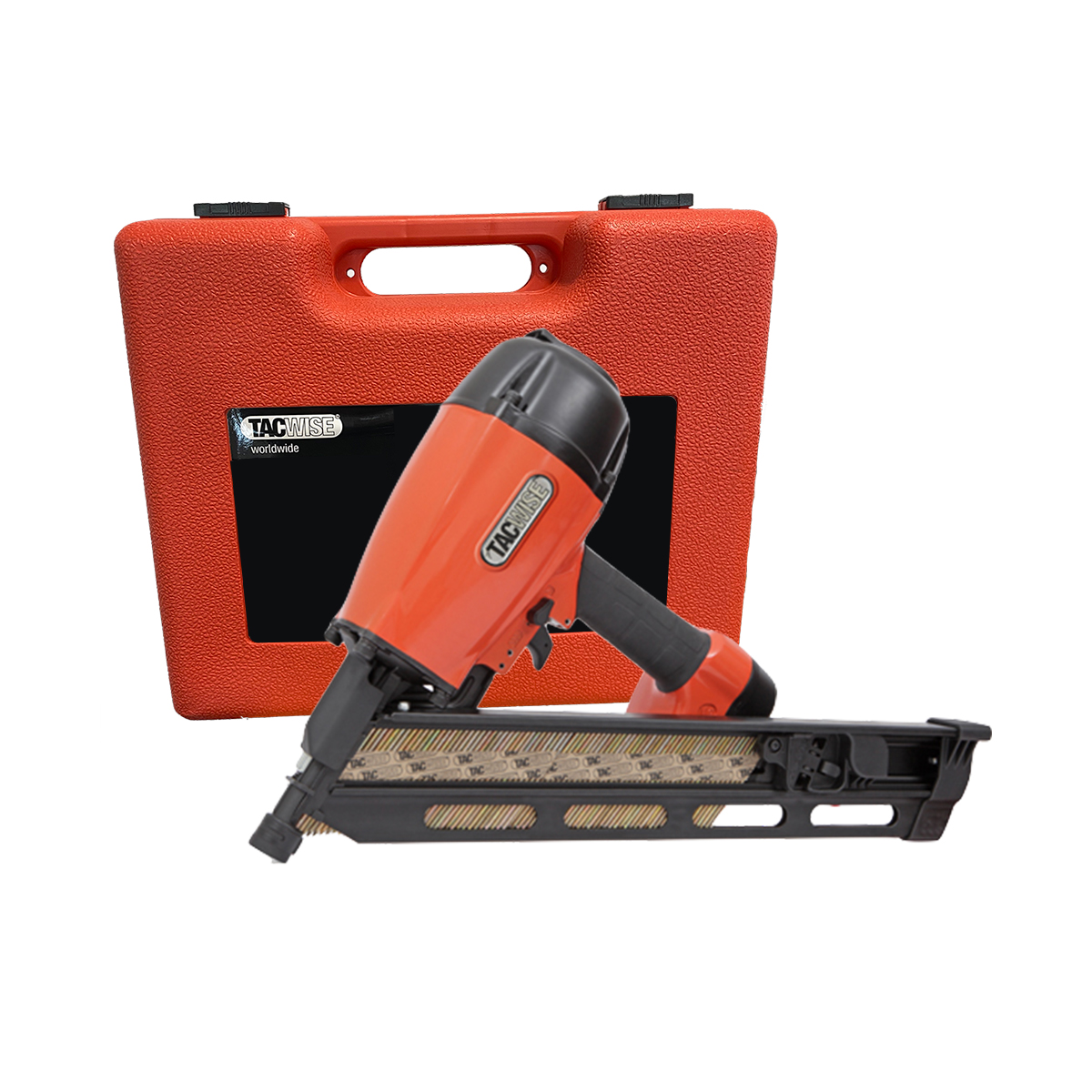Tacwise KDH90V 90mm Heavy Duty Angled Air Strip Nailer with Carry Case