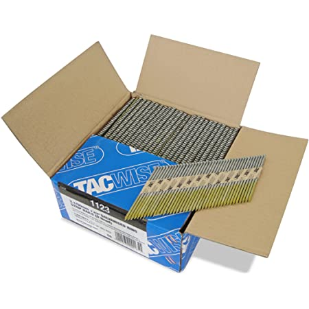 Tacwise 1123 3.1 90mm Extra Galvanised Ring Strip Nails, Box of 2200