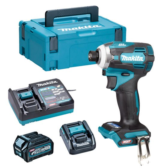 Makita TD001GD103 40v XGT Brushless Impact Driver (220nm), 1 x 2.5ah Battery, Fast Charger, Carry Case + ADP10 Adaptor
