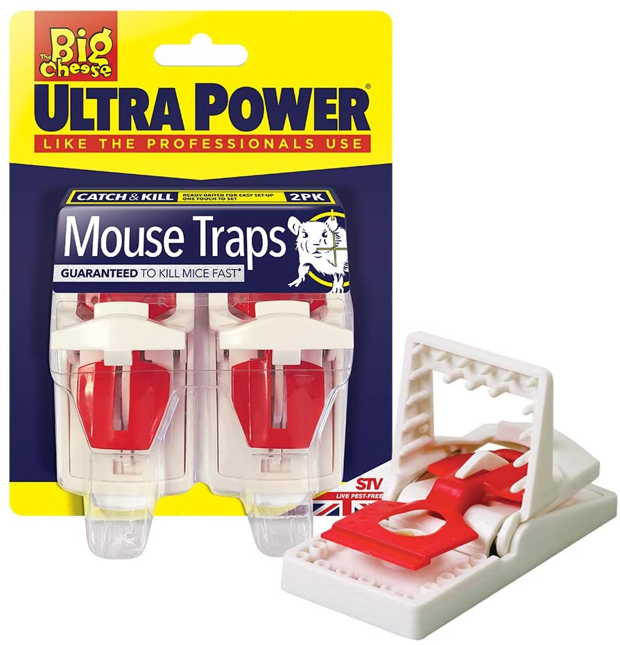 The Big Cheese STV148 Ultra Power Mouse Traps (Twinpack)