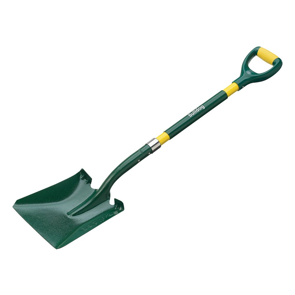 Bulldog USALSQM Bulldoza Fiberglass Square Mouth Shovel, Straight Handle 58""