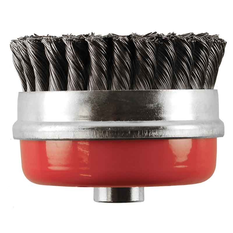 Abracs Twisted Knot Wire Brush, 70mm x M14, Stainless Steel