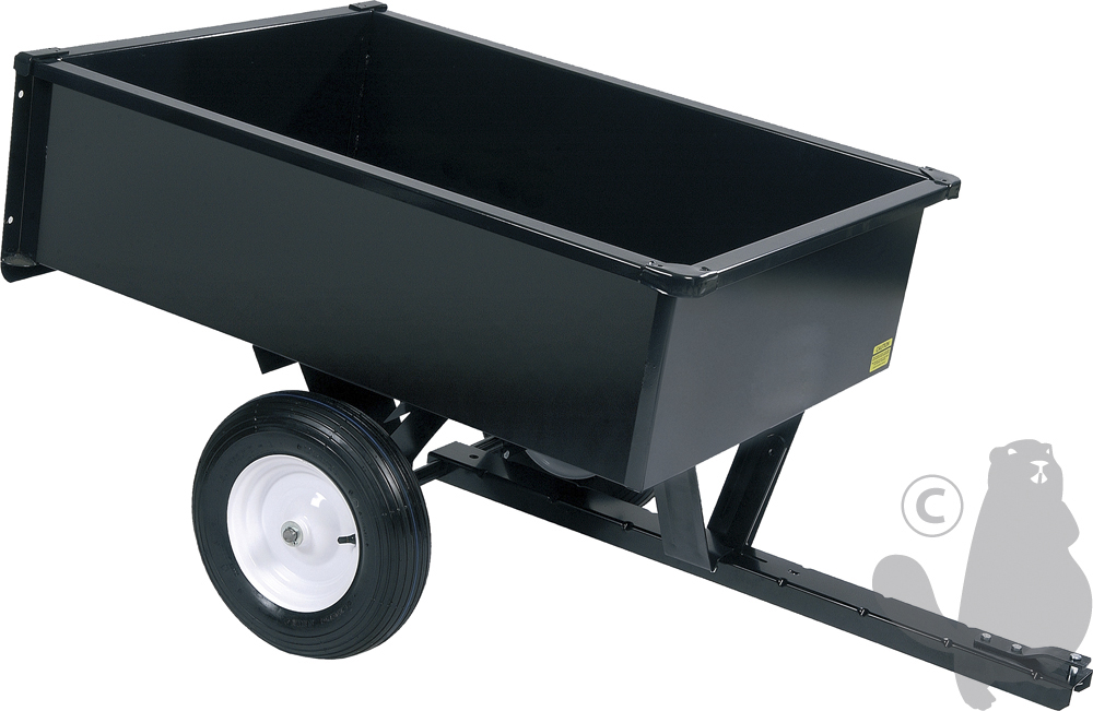 Garden Spares XBILDT1002 Trailer For Lawn Tractor 300Kg Capacity with Removable Door